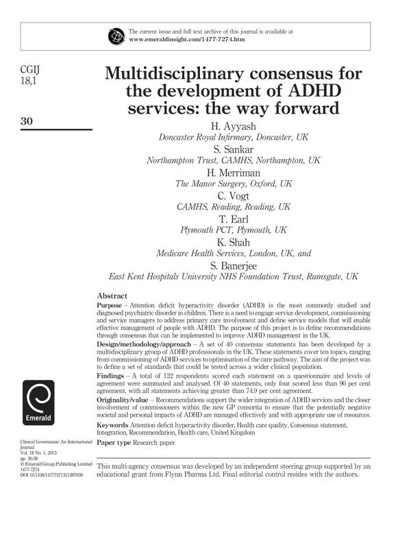 ADHD Publication